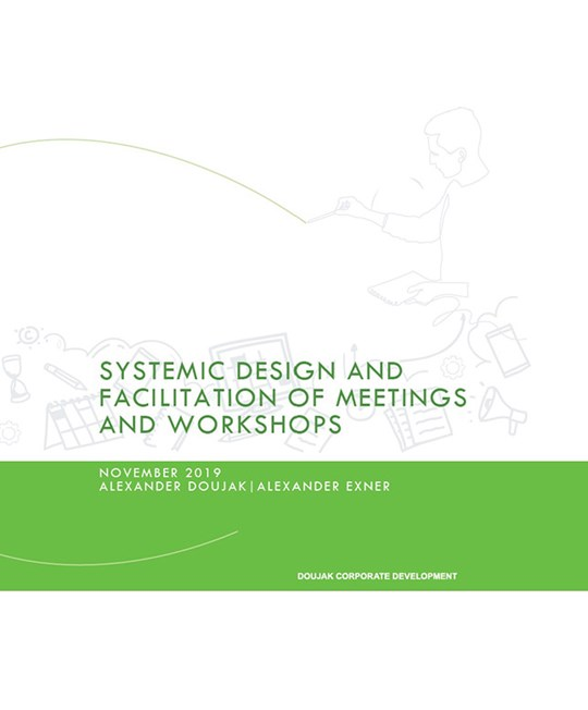Systemic Design and Facilitation of Meetings and Workshops - Workbook Cover